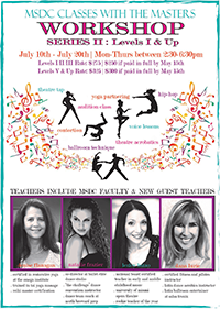 dance with the masters workshop