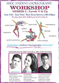 SERIES I choreography workshop for dance studentsWORKSHOP FLYER